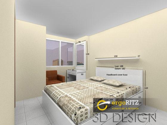 Desain 3D Tempat tidur