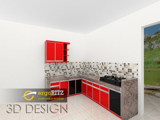 desain 3d kitchen set