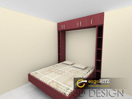 Desain 3d Folding Bed 2