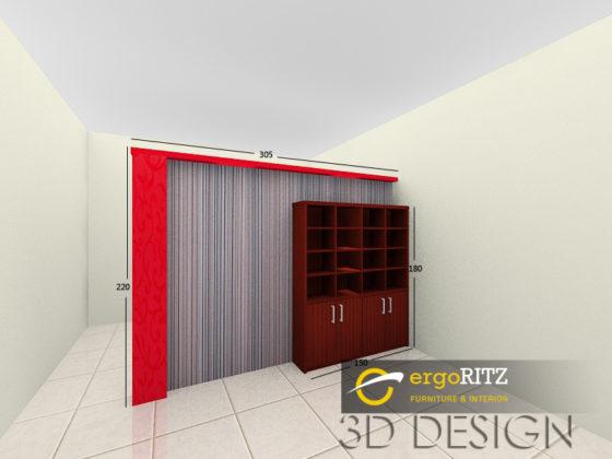 Desain 3D Backdrop