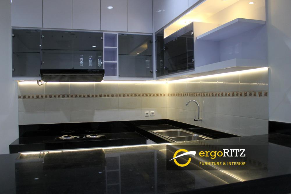 Kitchen Set Hpl View Lampu Led Strip Ergoritz Furniture